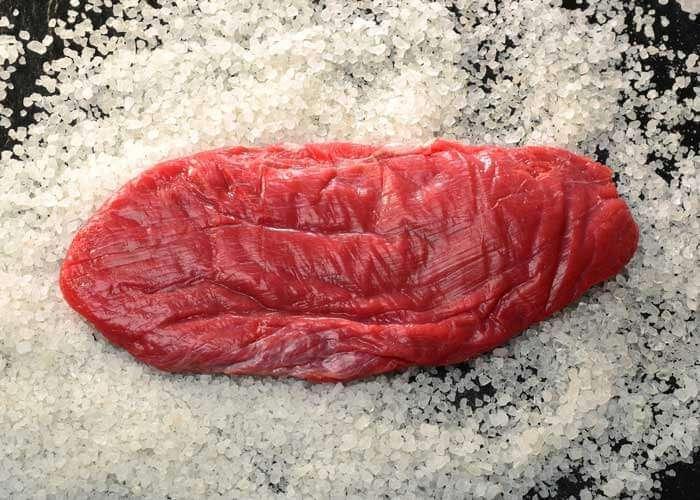 falda corte de carne de res